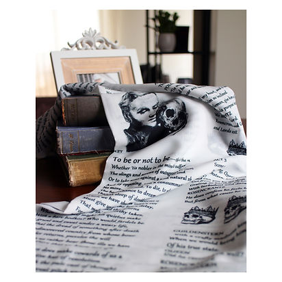 Shakespeare Hamlet To Be or Not To Be Literary Book Infinity Scarf Teacher Gift Accessories