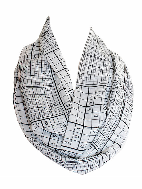 Sudoku Design Infinity Scarf Gift For Her Girlfriend Christmas Birthda