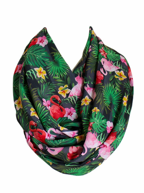 Flamingo Infinity Scarf Gift For Her Circle Tube Scarf