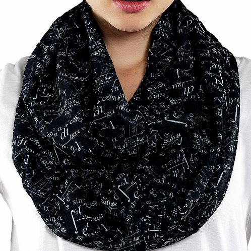 Black Mathematics Infinity Scarf Teacher Gift For Her Girlfriend Birthday