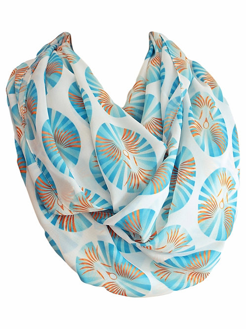 Birds Infinity Scarf Gift For Her Circle Tube Scarf Accessories