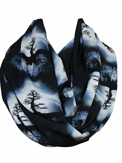 Tree of Life Infinity Scarf Gift For Her Valentine Girlfriend Tube Scarf