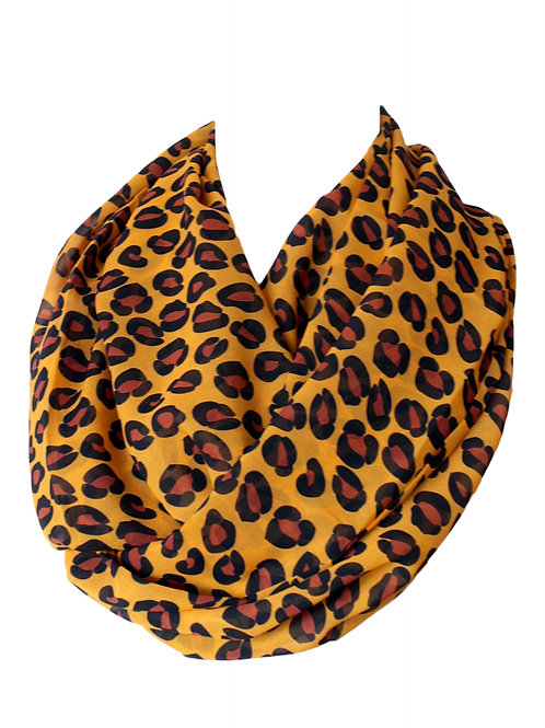 Animal Skin Infinity Scarf Gift For Her Circle Tube Scarf
