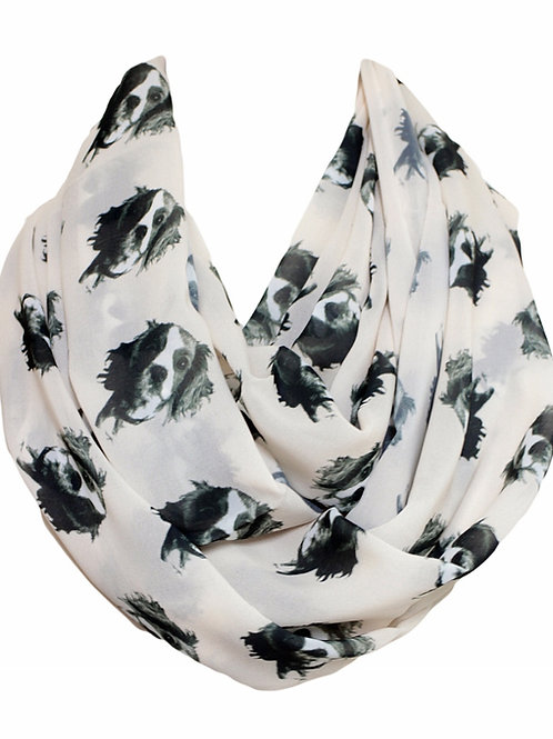 Cavalier Dog King Charles Spaniel Infinity Scarf Gift For Her Circle Scarf