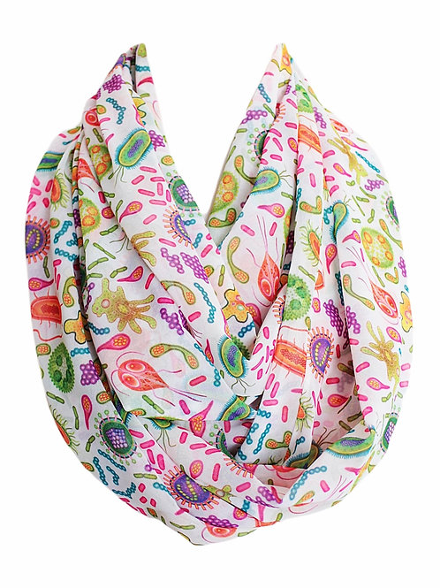 Microbiology Virus Bacteria Cells Germs Infinity Scarf Gift For Woman