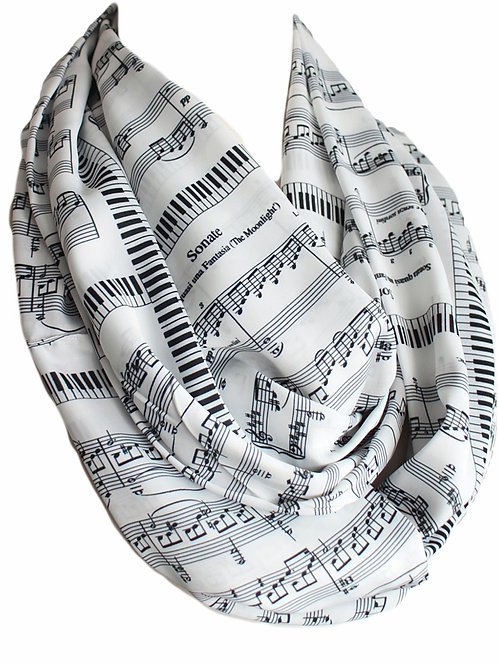 Beethoven Sonate Sheet Infinity Scarf Book Classic Music Lovers Gift