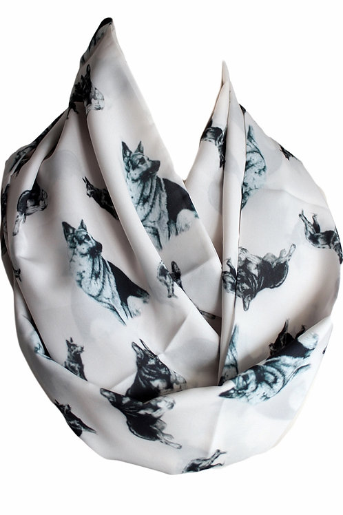German Shepperd Infinity Scarf Gift For Woman Circle Tube Scarf Fashion