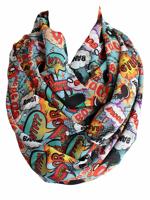 Boom Bang Affect Infinity Scarf Gift For Her Circle Tube Scarf Accessories
