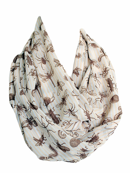 Brown Bugs Infinity Scarf Insect Circle Loop Tube Scarf