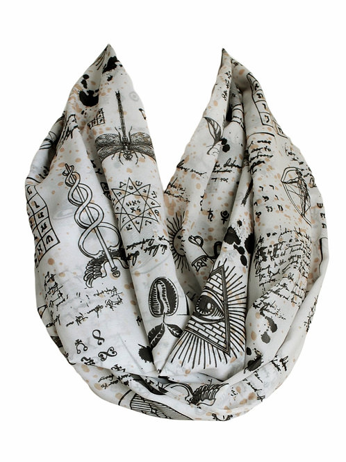 Mysticism Symbols Pattern Infinity Scarf Gift For Her Circle Tube Scarf