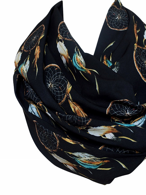 Dream Catcher Infinity Scarf Gift For Her Circle Scarf Tube Scarf Accessories