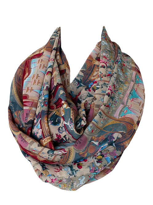 Opera Theater Design Infinity Scarf For Her Christmas Birthday Gift