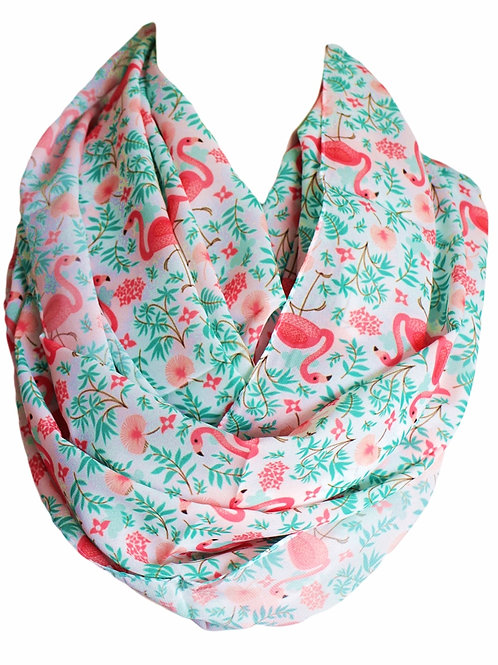 Pink Pelican Infinity Scarf Teacher Gift For Her Girlfriend Christmas