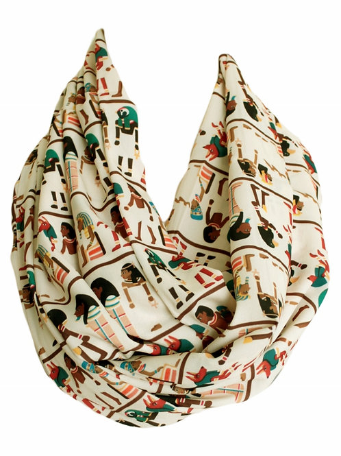 Antique Egyptians Infinity Scarf Gift For Her Circle Tube Scarf