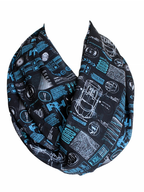 Digital Car Graphic Infinity Scarf Gift For Her Circle Tube Scarf