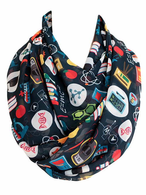 Black Physics Atom DNA Infinity Scarf Teacher Gift For Girlfriend Graduation