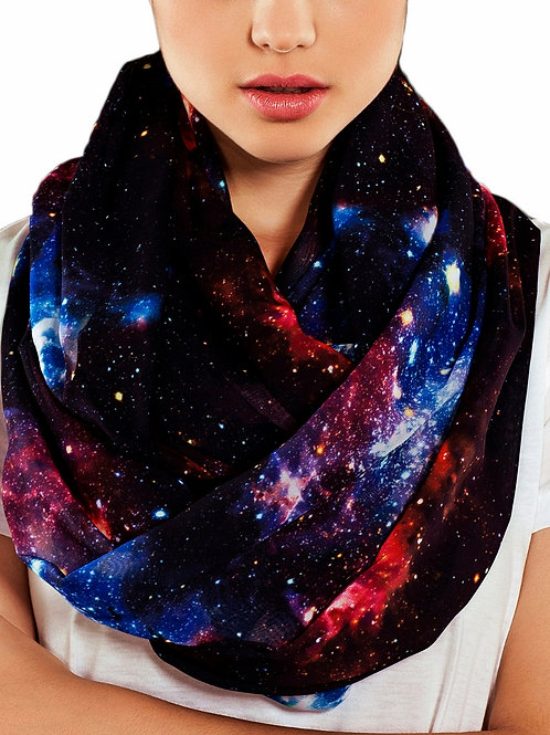 Galaxy Nebula Infinity Scarf Gift For Her Circle Tube Scarf Accessories