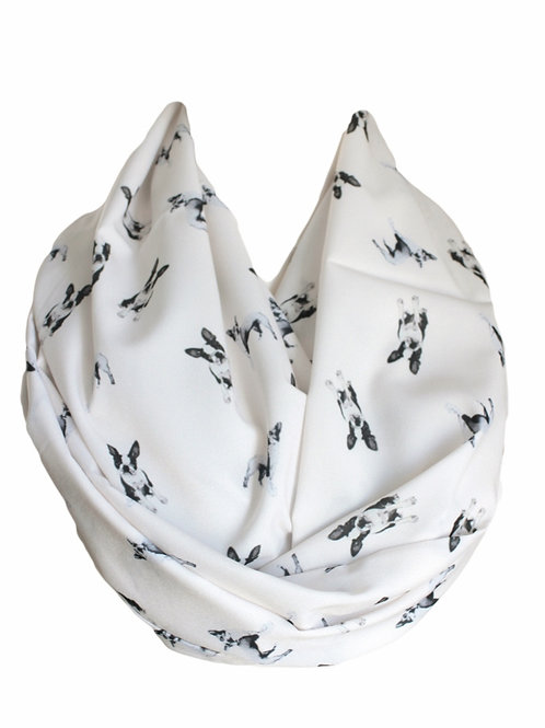 Boston Terrier Dog Infinity Scarf Circle Tube Scarf Pet Lovers Gift