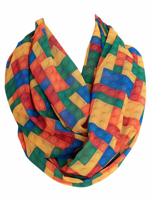 Lego Plastic Blocks Infinity Scarf Gift For Her Circle Tube Scarf Accessories