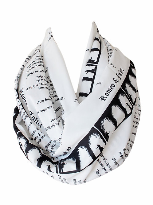 Shakespeare Romeo and Juliet Book Infinity Scarf Novels Literary Gift