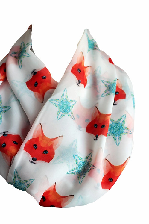 Fox Infinity Scarf Gift For Her Circle Tube Scarf Accessories