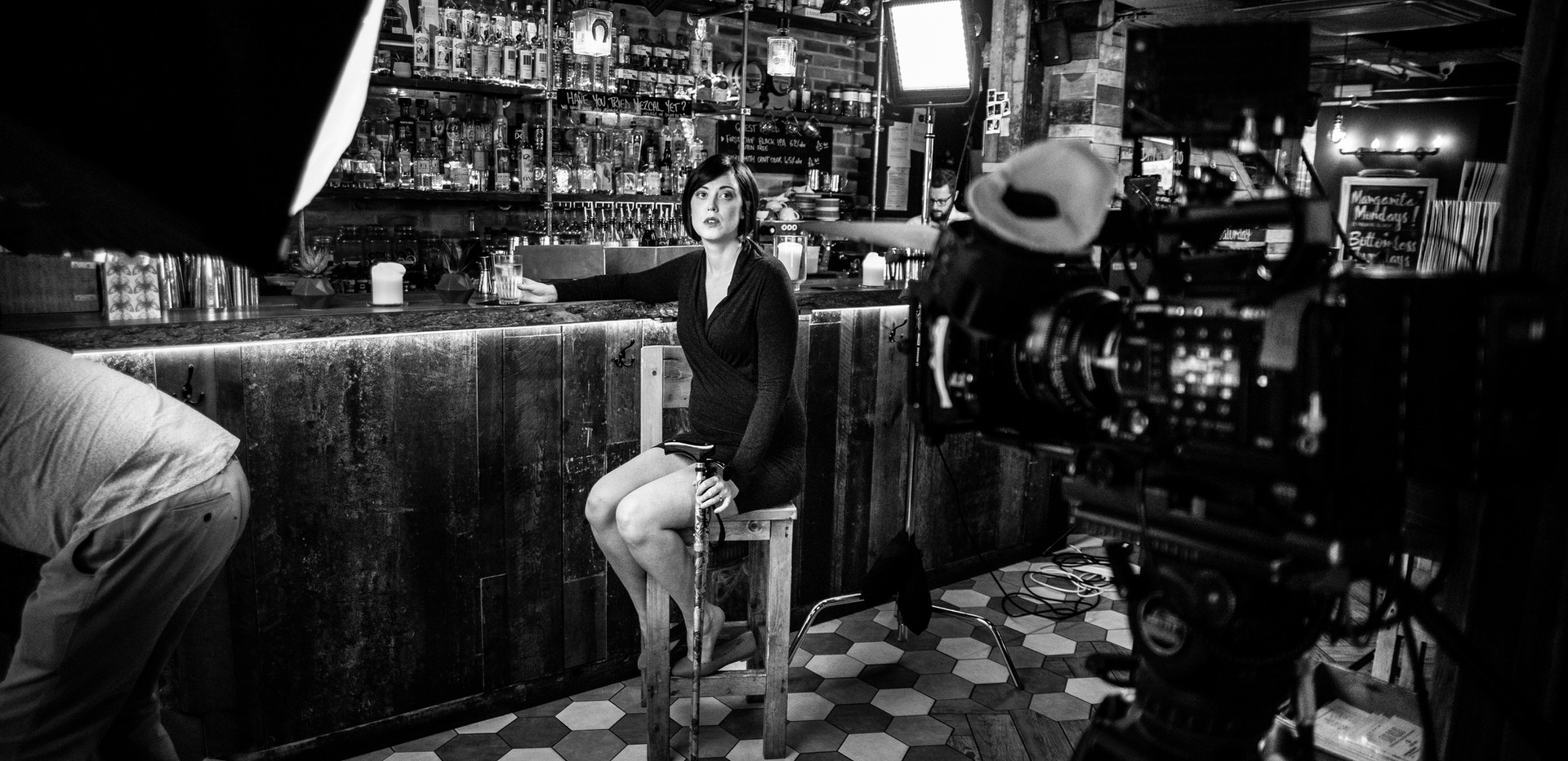 Rojo Bar scene Tess waiting B&W.jpg