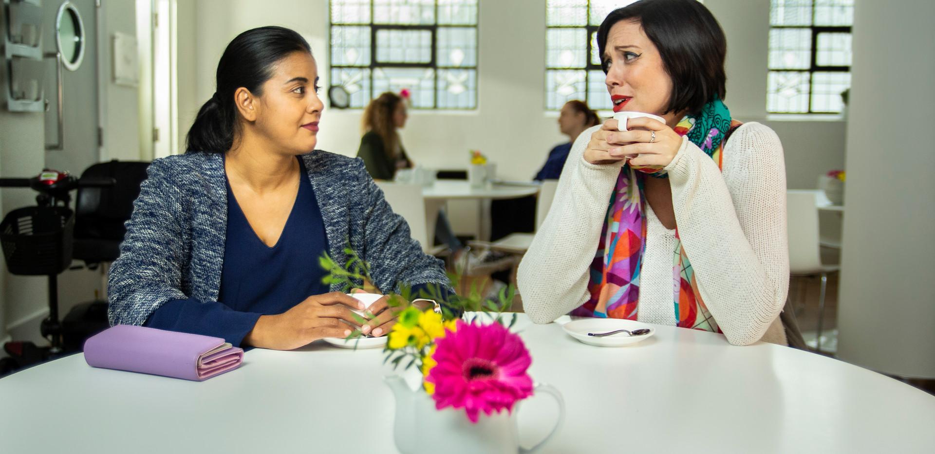 LIFE Centre Pooja & Tess chat.jpg