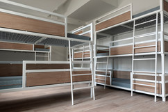 Bunk beds of three layers so more guest can stay over.