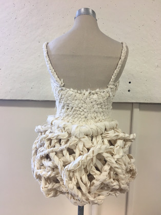 Woven bodice dress -Draped with muslin on 1/2 size form