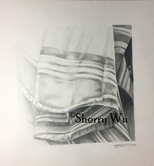The study of draped fabric and shadow