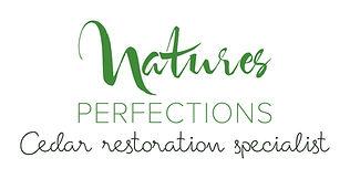 Cedar Restoration Specialist | Logo | Natures Perfections