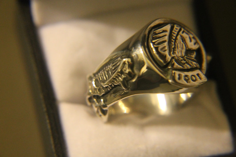 1901 MOTOR INDIAN BAND RING