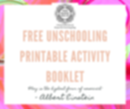 free unschooling printable activity book