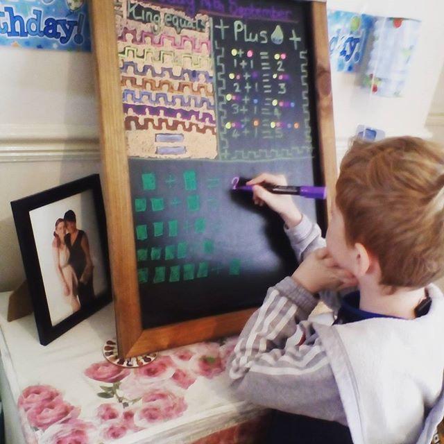 Home Education, Waldorf,  chalkboard , Maths