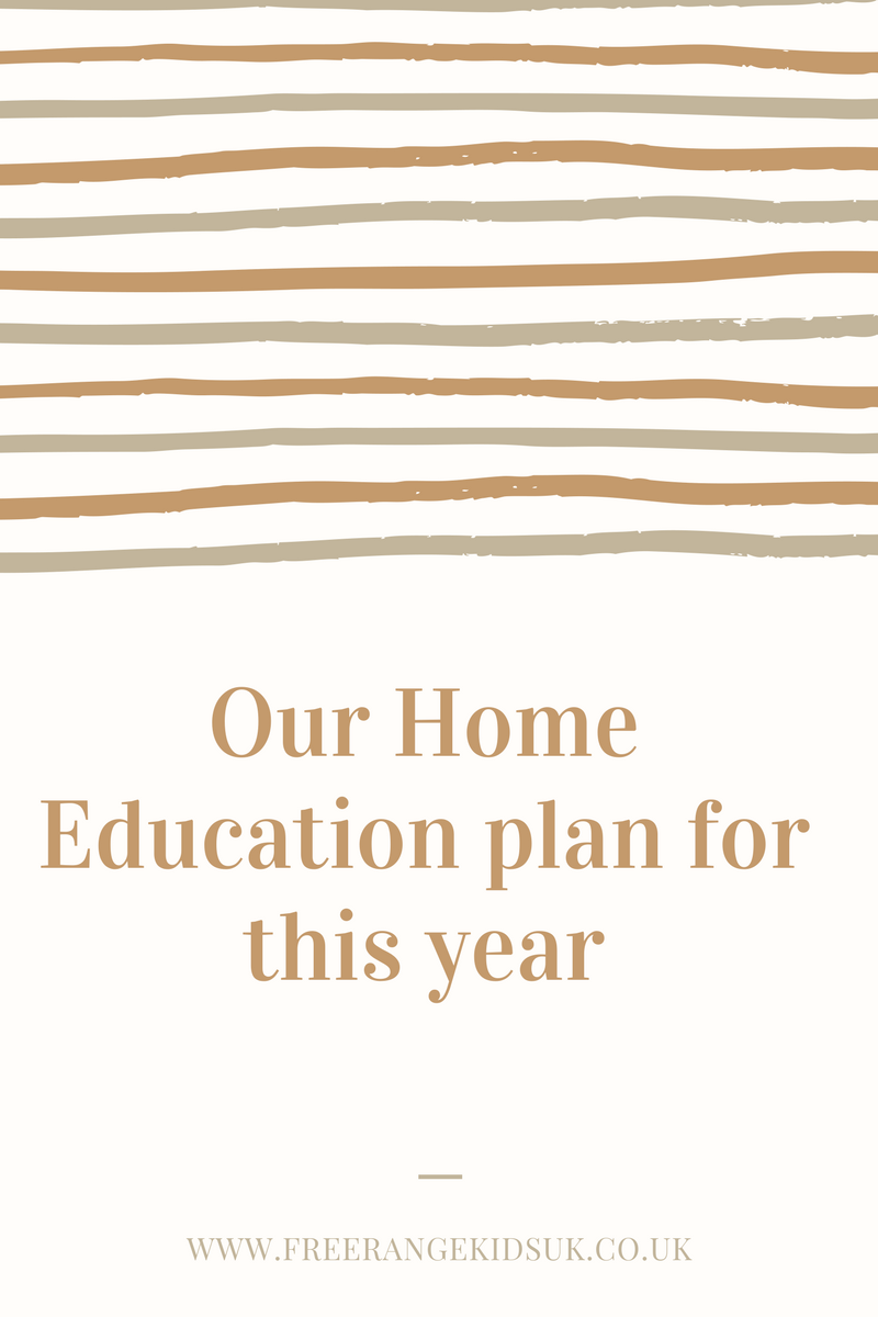 Our Home Education curriculum