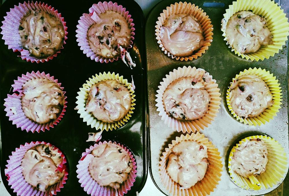 Blackberry muffin mix
