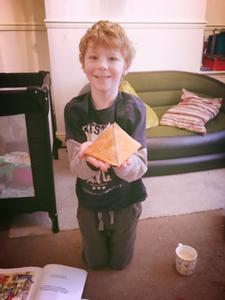 Pyramid paper model