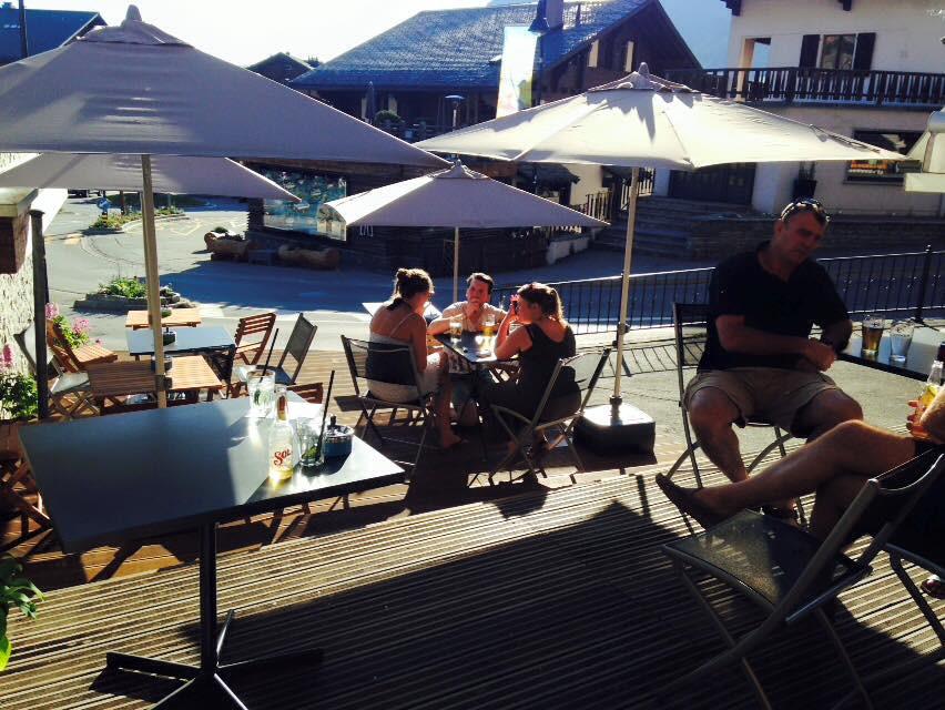 Tbar terrace in summer
