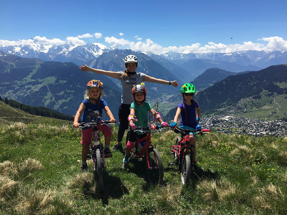 Girl mountain bike riders - Junior Rider Club