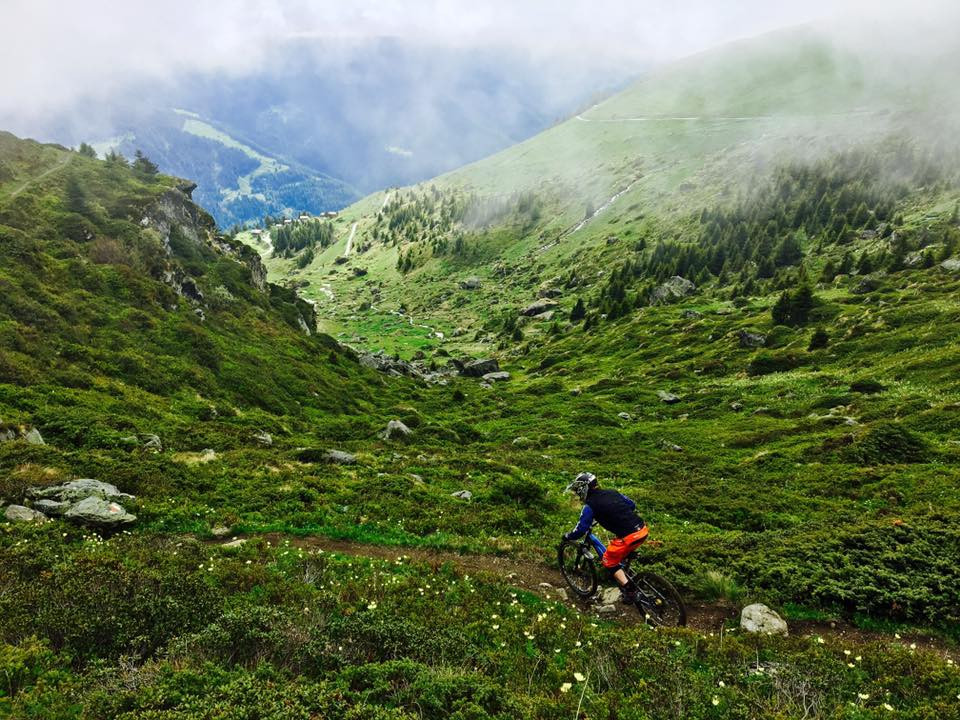 Exploring the single trails in Verbier