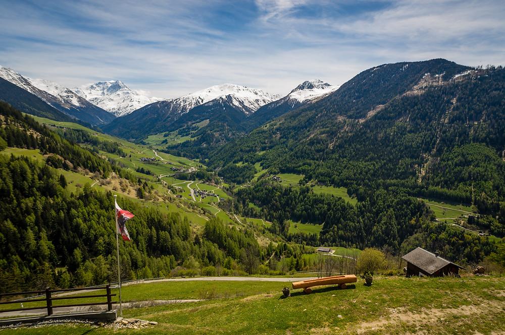 Grand St. Bernard Pass MTB view