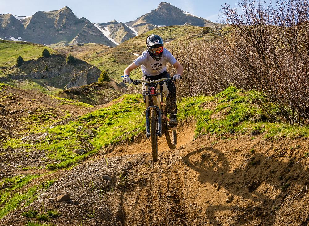 Flowy trails of Champery Bike Park