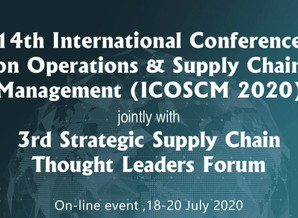 EVENT: 14TH INTERNATIONAL CONFERENCE ON OPERATIONS & SUPPLY CHAIN MANAGEMENT