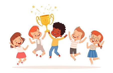 team-cute-children-won-competition-boys-