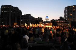 Beautiful evening on Monona Terrace for Dane Dances!