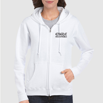 Banner-White Hoodie
