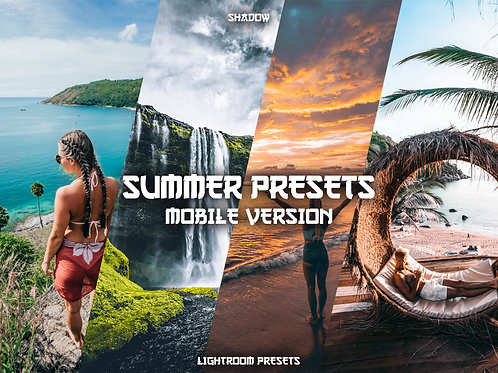 Shadow Lightroom Summer Preset Pack (Mobile)
