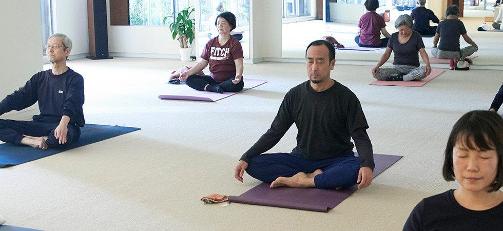 レッスン風景 瞑想