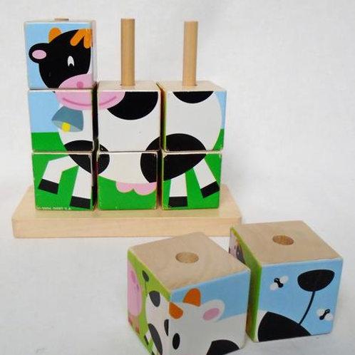 Puzzle avec des cubes