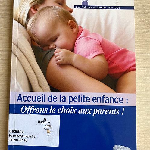Accueil de la petite enfance : offrons le choix aux parents!